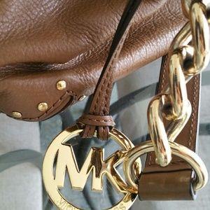 MICHAEL Michael Kors Bags - Michael Kors Brown Leather Gold Study Crossbody